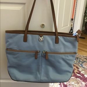 Michael Kors light blue Kelsey bag
